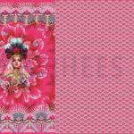 Fiona Hewitt Jersey Stoff Panel pink Blumen Mädchen