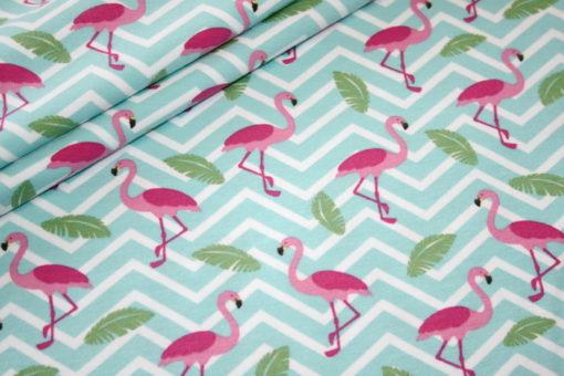 Artikel aus dem renee-d.de Onlineshop: Jersey Stoff Flamingo
