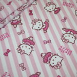 Original Hello Kitty Baumwollstoff rosa