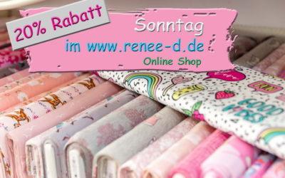 🌞🌞20% am Sonntag im Renee D. Online Shop!🌞🌞