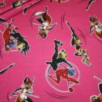 Original Jersey Stoff Miraculous Cat Noir Ladybug