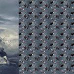 Stenzo Jersey Stoff Panel Digitaldruck Orca Wal