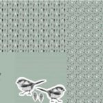 Stenzo Jersey Stoff Panel Digitaldruck Vogel Vögelchen Kissen mint grün