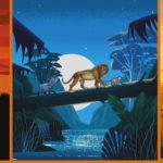 Walt Disney Jersey Stoff Panel König der Löwen