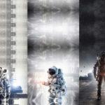 Stenzo Jersey Stoff Panel Digitaldruck Astronaut Raumschiff