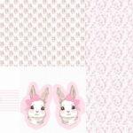Stenzo Jersey Stoff Panel Digitaldruck Hase Häschen Kissen Weiß