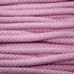 Dicke Baumwollkordel Kordel in rosa mit Glitzer