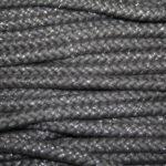 Dicke Baumwollkordel Kordel in dunkelgrau grau mit Glitzer