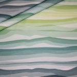 Wavy Stripes by Lycklig Design Jersey Stoff grün