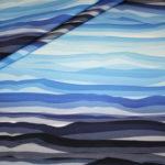 Wavy Stripes by Lycklig Design Jersey Stoff blau