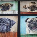 Robert Kaufman Baumwollstoff Hunde Mops