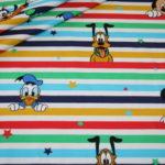Original Walt Disney Jersey Stoff Donald Duck Mickey Maus and Friends