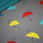 Soft Shell Softshell Outdoor Jackenstoffe grau Regenschirm