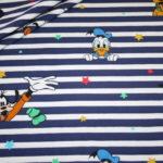 Original Walt Disney Jersey Stoff Donald Duck Mickey Maus and Friends blau