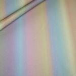 Stenzo French Terry dünner Sweatshirt Stoff Regenbogen Streifen