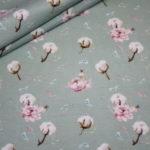 Stenzo Jersey Stoff Digitaldruck Baumwolle Blumen mint