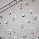 Stenzo Jersey Stoff Digitaldruck Baumwolle Blumen rosa