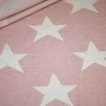 Stenzo Jacquard Strick Jersey Stoff rosa Sterne