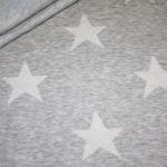 Stenzo Jacquard Strick Jersey Stoff grau Sterne