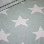 Stenzo Jacquard Strick Jersey Stoff grün Sterne