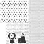 Stenzo Jersey Stoff Panel Digitaldruck Löwe Kissen Weiß