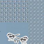 Stenzo Jersey Stoff Panel Digitaldruck Vogel Vögelchen Kissen blau