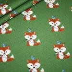 Hilco Jersey Stoff grün Indianer Fuchs
