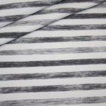 Hilco dünner Sweatshirt Stoff grau weiß Streifen