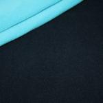 Hilco Doubleface Fleece Stoff blau türkis
