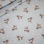 Hilco dünner Sweatshirt Stoff kleiner Fuchs hellblau