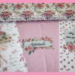 Stenzo Jersey Stoff Panel Digitaldruck Ballett Mädchen rosa weiß