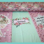 Stenzo Jersey Stoff Panel Digitaldruck Ballett Mädchen rosa mint