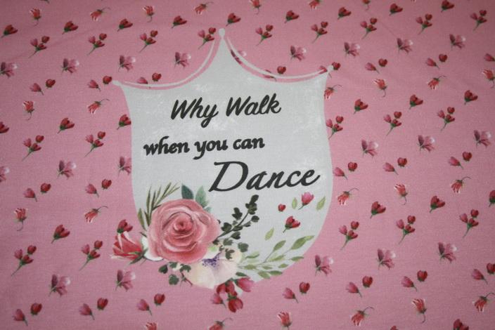 Stenzo Jersey Stoff Panel Digitaldruck Ballett Mädchen rosa mint