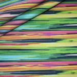 Stenzo French Terry dünner Sweatshirt Stoff bunte Streifen