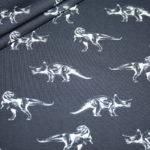Hilco Jersey Stoff blau Dinosaurier