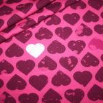 Jersey Stoff by Petra Laitner große Herzen pink