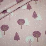 Hilco Jersey Stoff by Jatiju Woodgirls rosa Wald Bäume