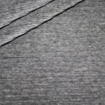 Jersey Stretch Cord Stoff dunkel grau