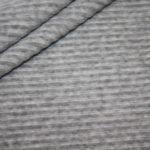 Jersey Stretch Cord Stoff hell grau