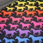 Soft Shell Softshell Outdoor Jackenstoffe Rainbow Horses Pferde