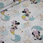 Original Walt Disney Baumwollstoff Minnie Maus Meerjungfrau