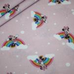 Original Walt Disney Baumwollstoff Minnie Maus Regenbogen