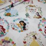 Original Walt Disney Baumwollstoff Disney Princess Prinzessin