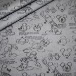 Original Walt Disney Baumwollstoff Mickey Maus