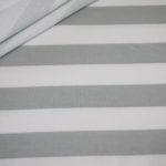 French Terry Sweatshirt Stoff breite Streifen weiß grau