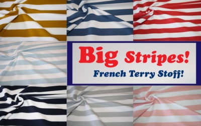 French Terry Big Stripes!