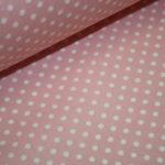 Beschichtete Baumwolle Wachstuch weich rosa kleine Punkte weiß