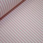 Beschichtete Baumwolle Wachstuch weich rosa schmale Streifen weiß