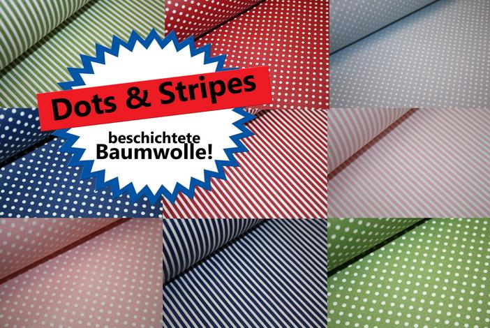 Beschichtete Baumwoffe Stars + Dots