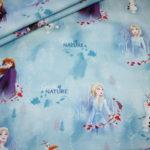 Original Walt Disney Jersey Stoff Die Eiskönigin 2 Frozen Anna und Elsa blau